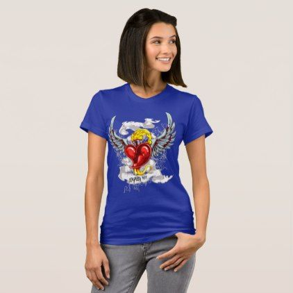 Loyal Heart on Fire T-Shirt - heart gifts love hearts special diy