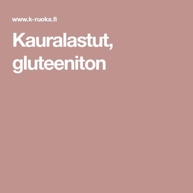 Kauralastut, gluteeniton