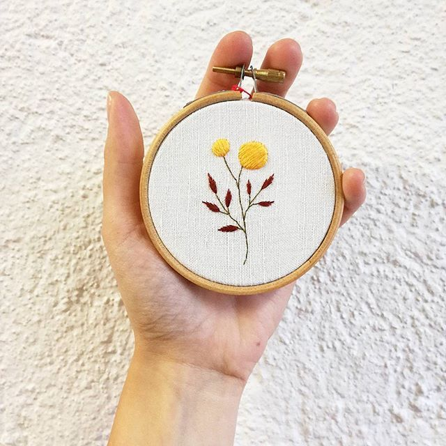 Embroidery, flowers, colours
