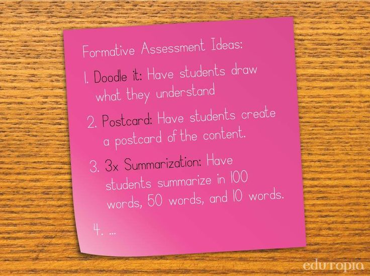 Best  Formative Assessment Examples Ideas On