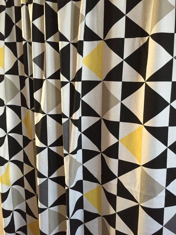 Windows Curtains, Bedroom curtain, cotton fabric geometric curtains  Cоtton…