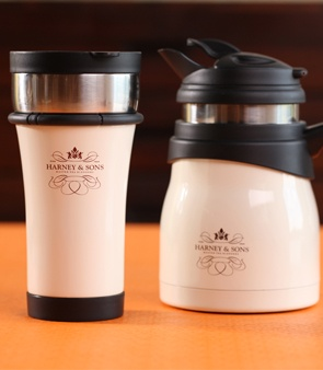 oh! i love these. and harney and sons tea. earl grey and hot cinnamon spice would be amazing in a matching travel mug!