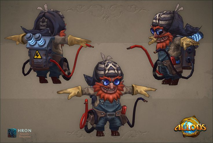 Goblins. Mobs project Allods Online, Anatoly Dragunov on ArtStation at https://www.artstation.com/artwork/J3Q6d