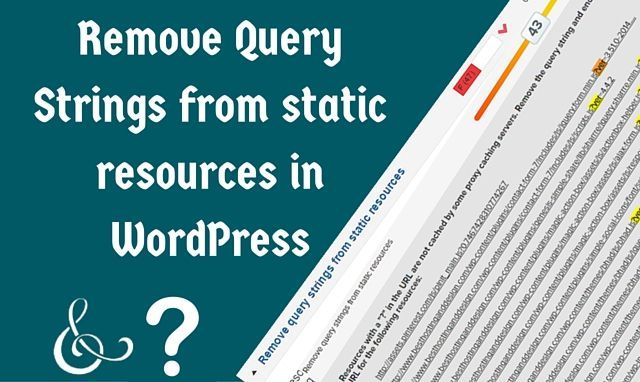 Remove query strings from static resources using any one of these methods and enjoy a boost in loading speed of your website!