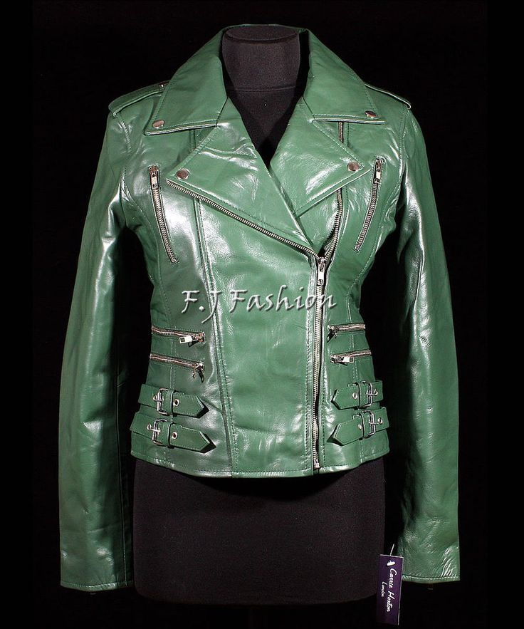 Jessie Green Ladies Women's Rock Chic Biker Retro Real Soft Sheep Leather Jacket #FJ #OtherJackets #Casual