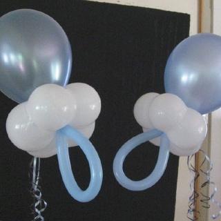 Balloon dummies - baby shower decorations