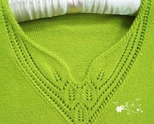 Beautifully decorated neck - half the success of knitted products. Russian website.