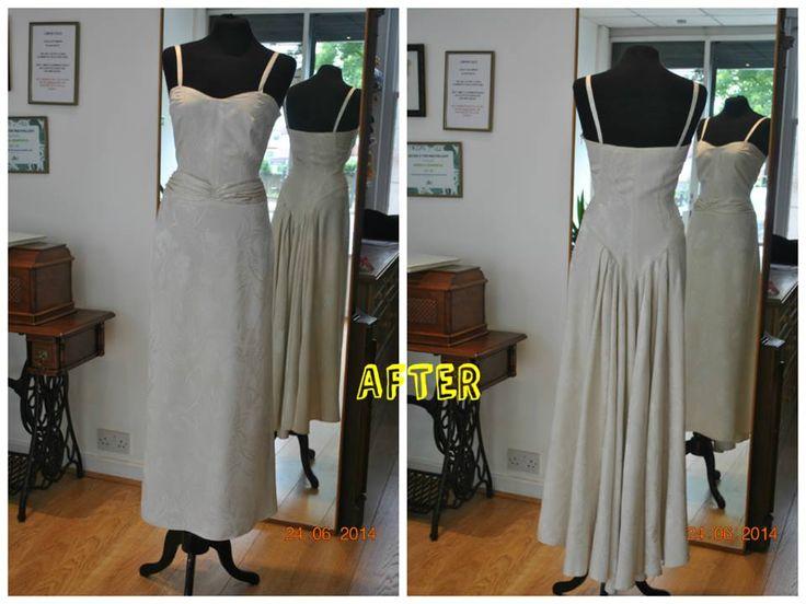 Silk Vintage Wedding Dress After Alteration Result Added New Straps Front Re