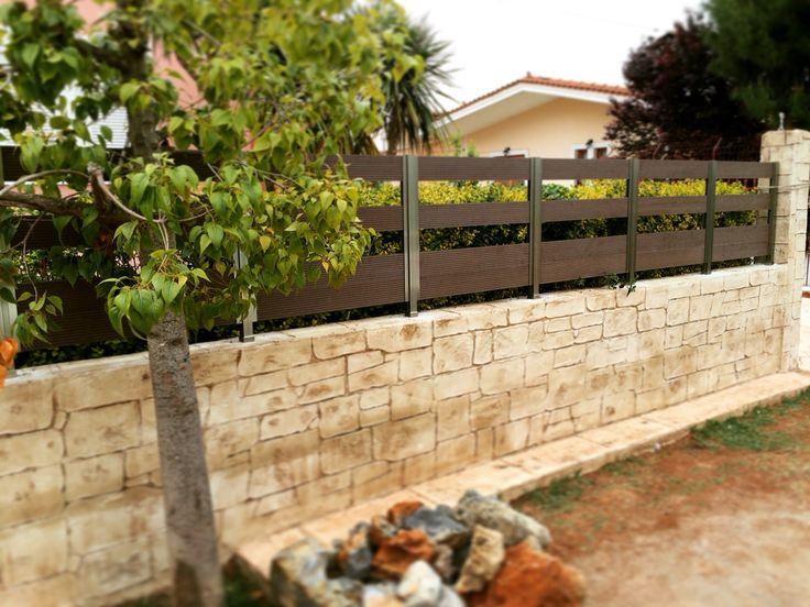 Κατασκευή Αυλόγυρος Αλουμινίου με Deck. http://alouminia-koufomata.gr #mparolas #aluminium #fences #deck