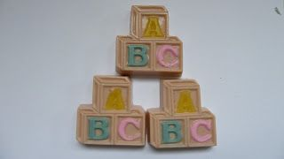 Baby shower ABC blocks scented with exotic fruit smoothie FO