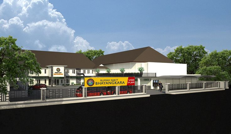 Renovasi Depan RS. Bhayangkara Mataram