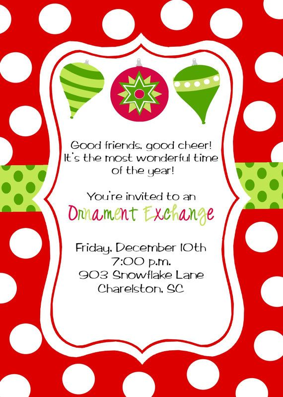 16 best images about Volunteer Christmas Party Invites on – Kids Christmas Party Invitations