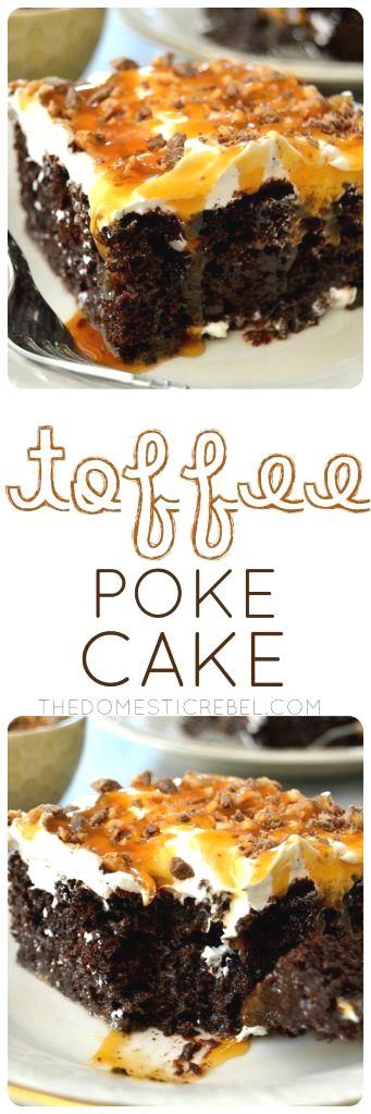 This Toffee Poke Cake is an easy, impressive dessert that…