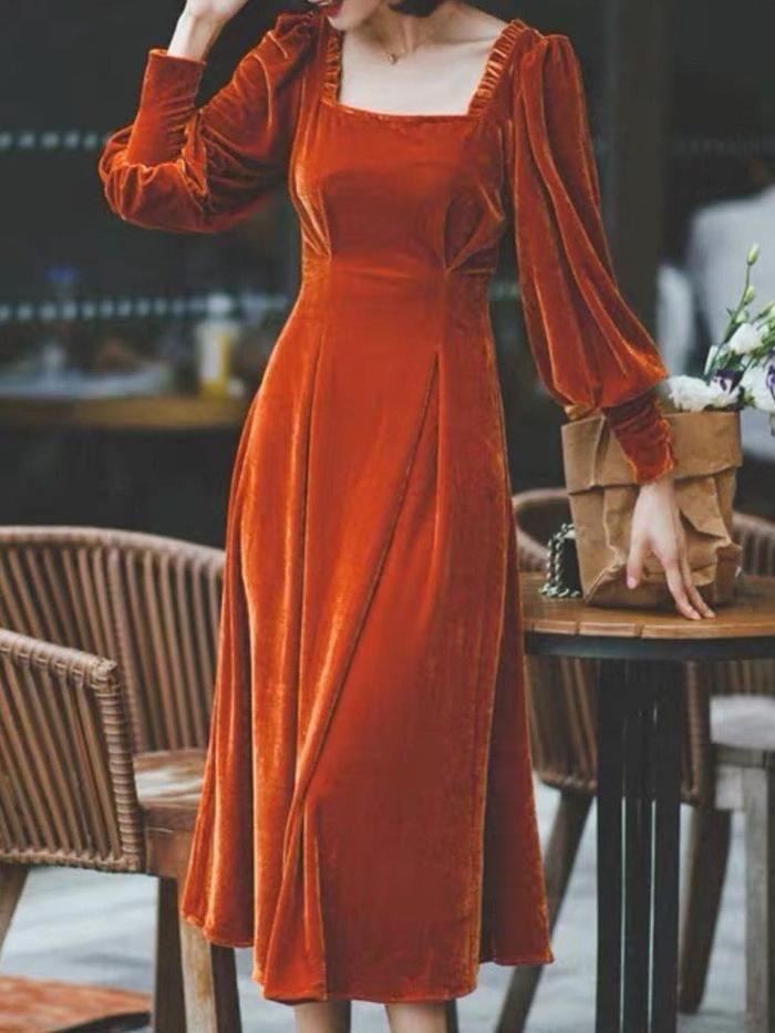 kaufen sie kleider velvet long sleeve kleider online