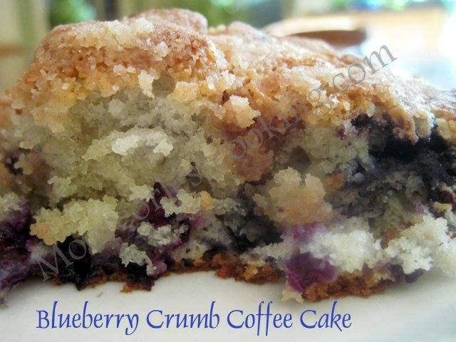 Blueberry Crumb Coffee Cake #recipe