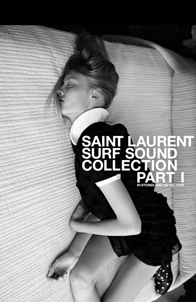 Saint Laurent by Hedi Slimane : Surf Sound - messing up the dress