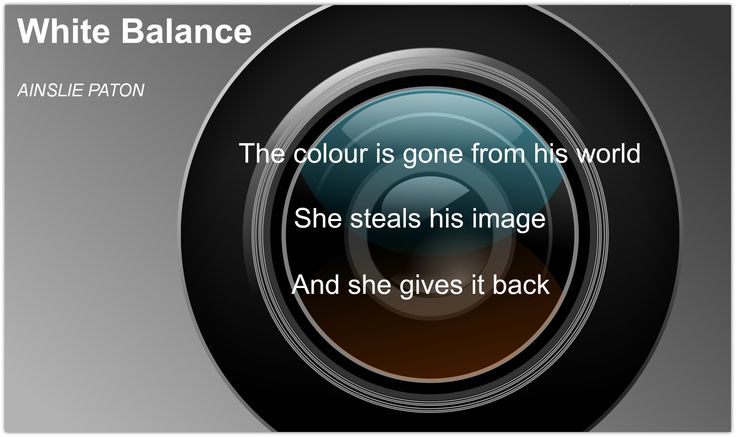 White Balance: His world was grey.  She gave him back his colour