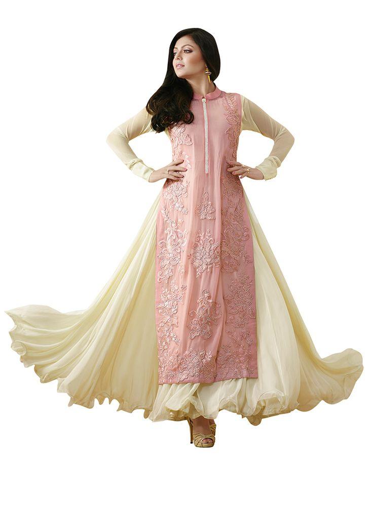 Pink N Cream Drashti Dhami Layered Anarkali