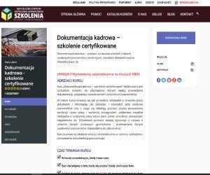 Szkolenie przez internet z zaświadczeniem MEN - Dokumentacja kadrowa w praktyce
