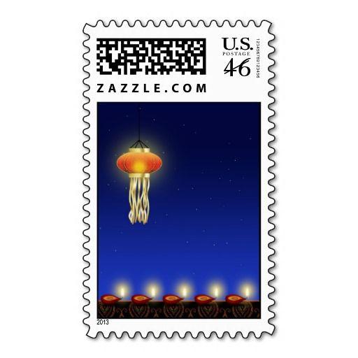 Luminous Diwali Lamp - Postage Stamp