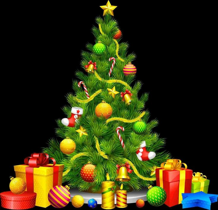 New Post christmas tree with presents backgrounds