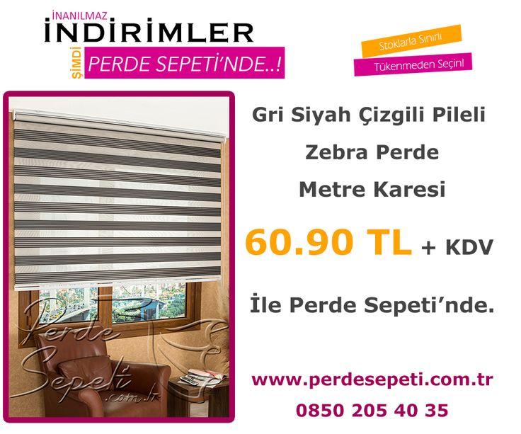 Gri Siyah Çizgili Pileli Zebra Perde Metre Karesi 60.90 TL + KDV İle Perde Sepeti' nde! Sipariş Vermek İçin Linki Tıklayın -> http://bit.ly/294V2z2