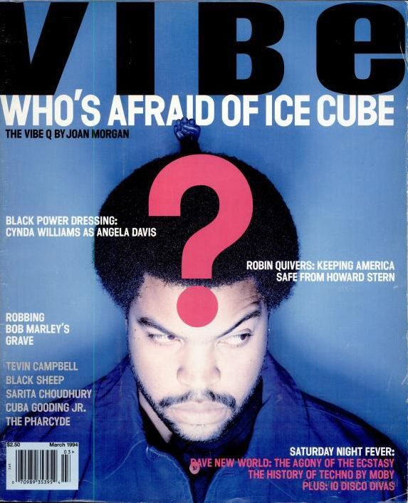 Ice Cube (March 1994) | 20 Vibe Magazine Covers That Perfectly Define The '90s