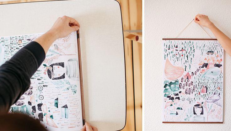 Wandverschönerung leicht gemacht: Jules zeigt Euch, wie Ihr mit wenig Material und einfachen Handgriffen einen schicken Rahmen für Eure Poster basteln könnt.