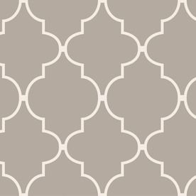 allen + roth Taupe Peelable Vinyl Prepasted Textured Wallpaper: