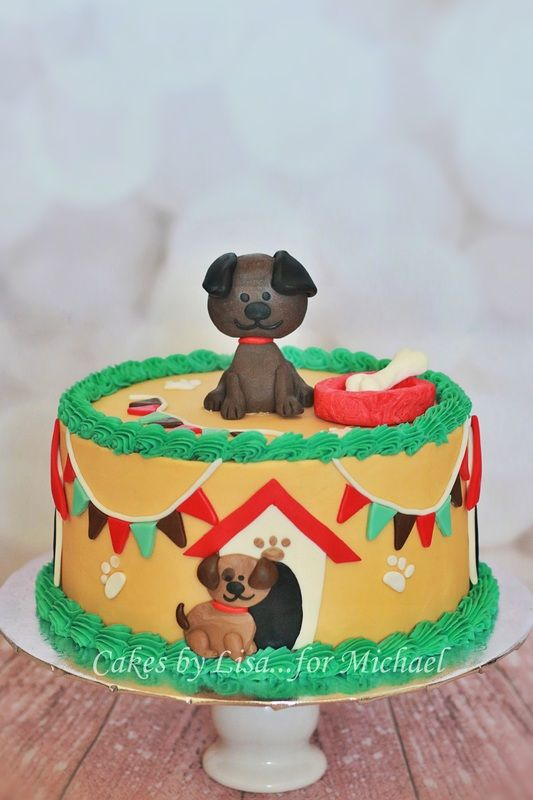 Puppy Dog Cake:  Cakes By Lisa.......for Michael
