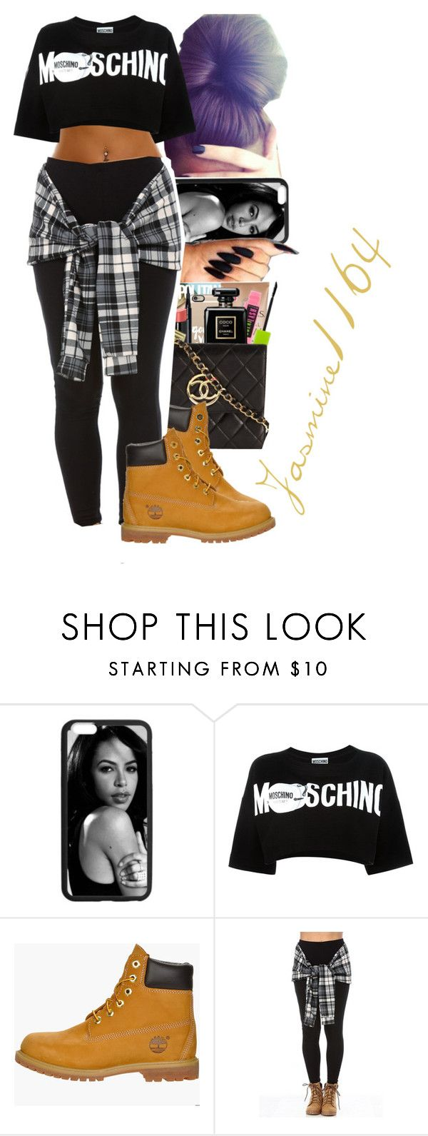 """""""Post Malone~Tear$"""" by jasmine1164 ❤ liked on Polyvore featuring Moschino and Timberland"""