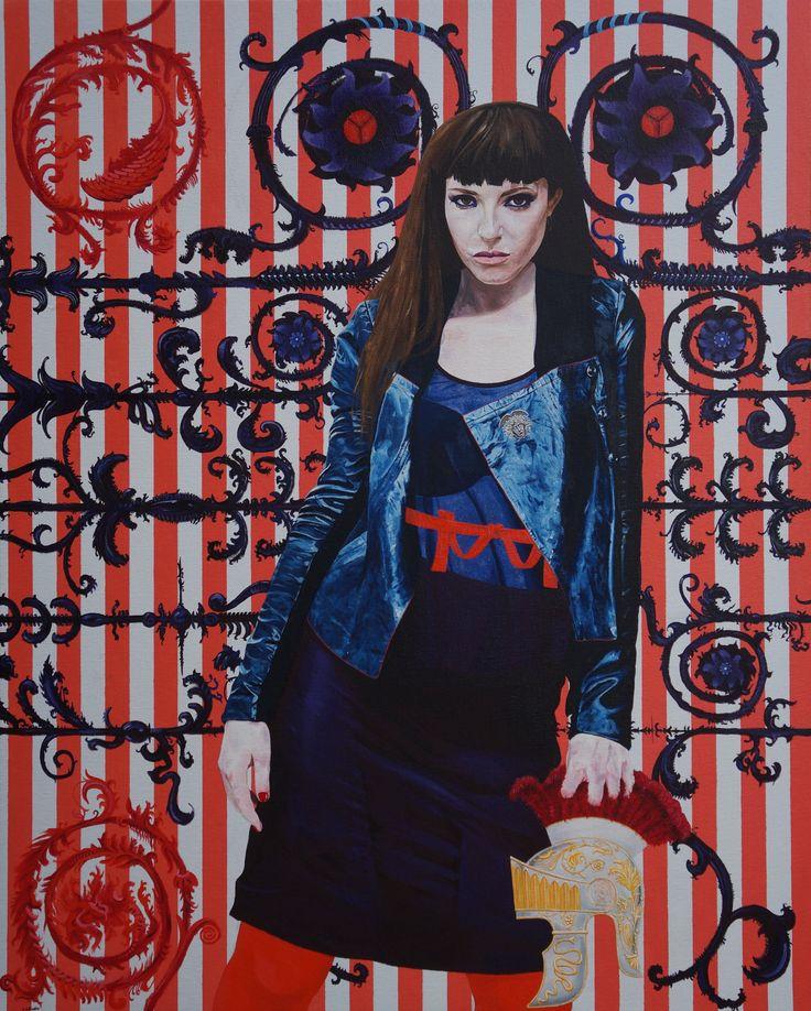 'Messalina', oil on canvas, 100 x 80cm, 2016. www.jeremyelkington.weebly.com