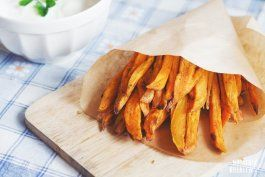Frytki z batatów  #fries #batat #chips #frenchfries #sweetpotato #potato