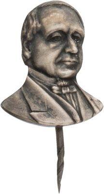 Hannibal Hamlin bust stick pin, ca. 1860. | In the Swan's Shadow