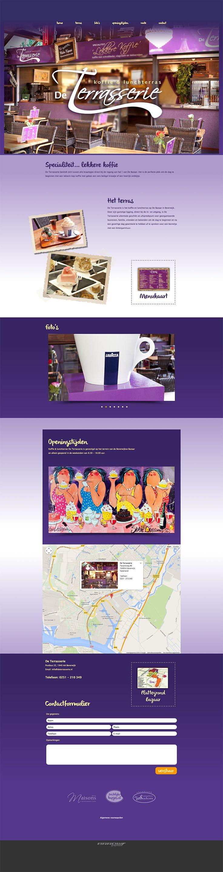 Website design voor De Terrasserie