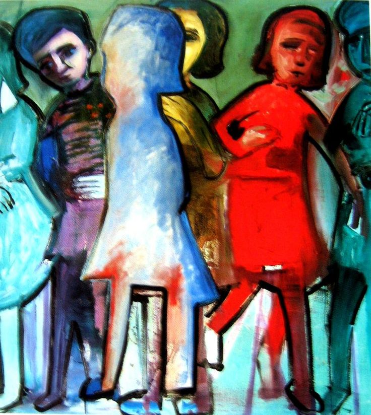 Charles Blackman ~ Six Figures