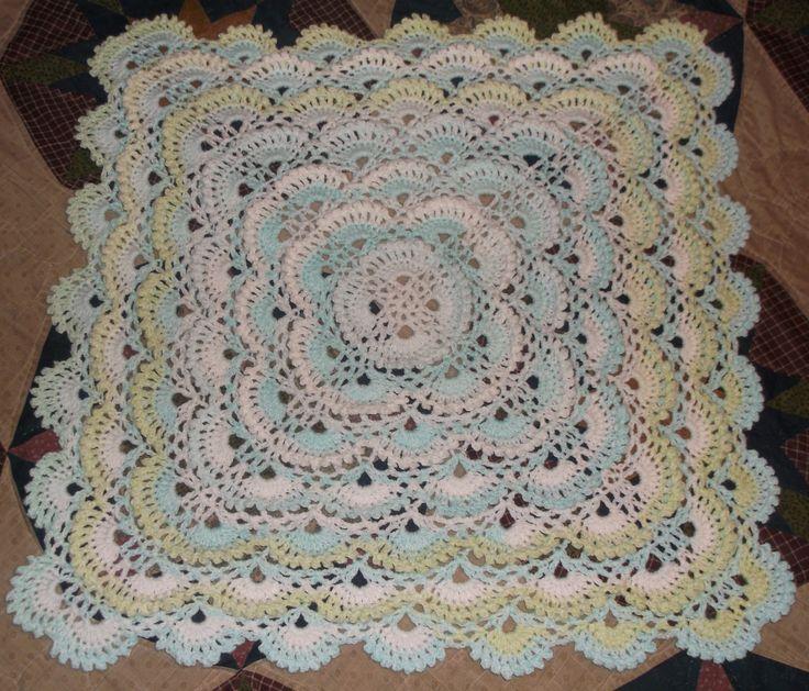 Crochet Virus Blanket : Fluffy Meringue Stitch Crochet Blanket Afghan Baby http://www ...