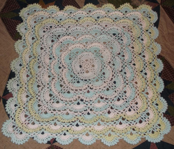 Fluffy Meringue Stitch Crochet Blanket Afghan Baby http ...