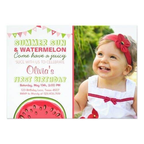 121 best girl's 1st birthday party invitations images on pinterest, Birthday invitations