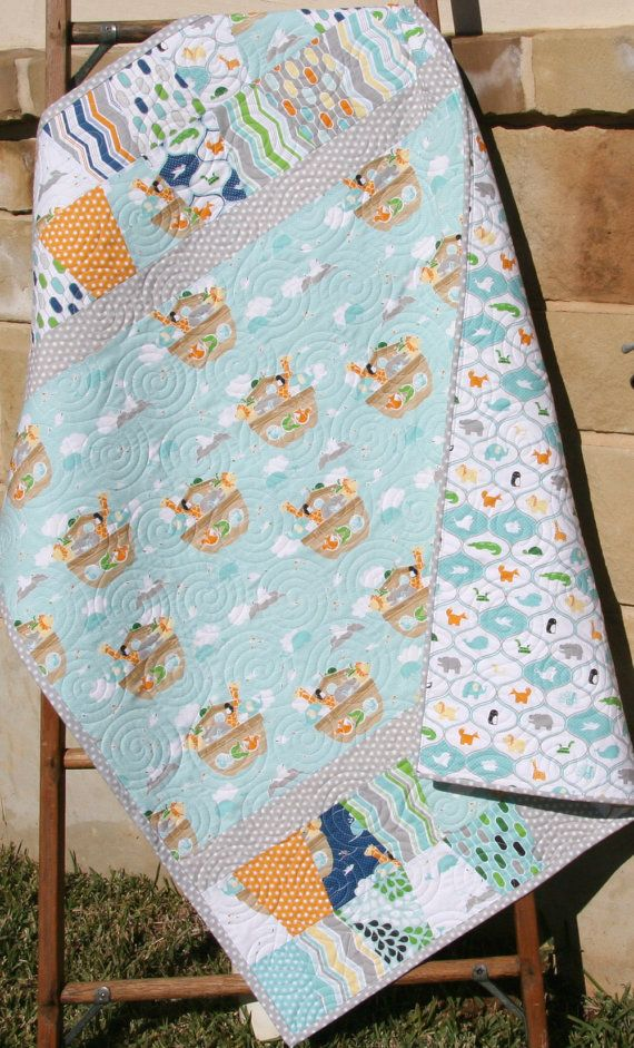 Baby Quilt Little Noah S Ark Riley Blake Fabrics Gender