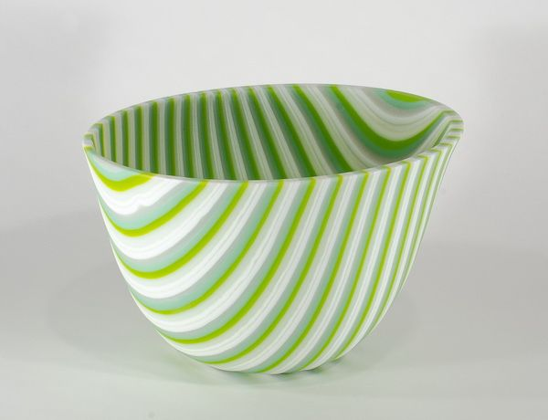 Fused Glass Bowl / Clearwater Glass Studio