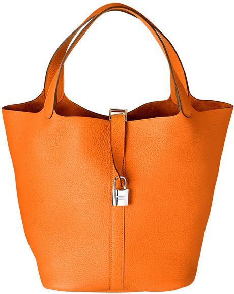 Hermès Picotin Lock Bag in Orange      hermes bags