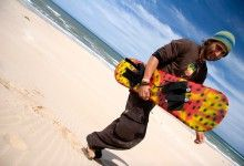 Sandboarding in Jefferys Bay, South Africa with Jeffreys Bay Adventures. #dirtyboots #sandboarding #jbay