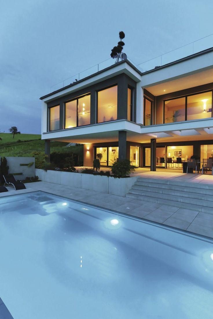 18 best Modernes Architektenhaus images on Pinterest   Villa pool ...