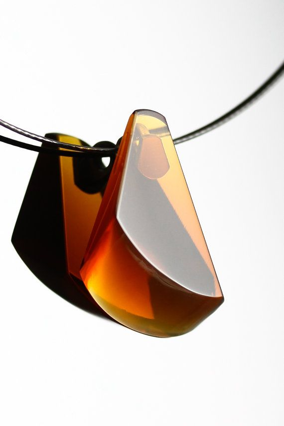 FREE SHIPPING  Handmade Glass Necklace by Ondřej by OlivaGlass