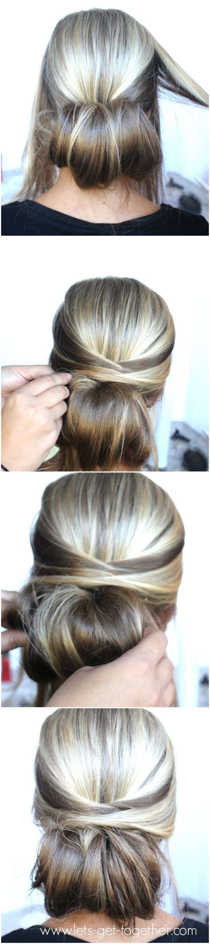 Step by step hairdo how-to! Get the styling products to rock this updo at Walgreens.com.
