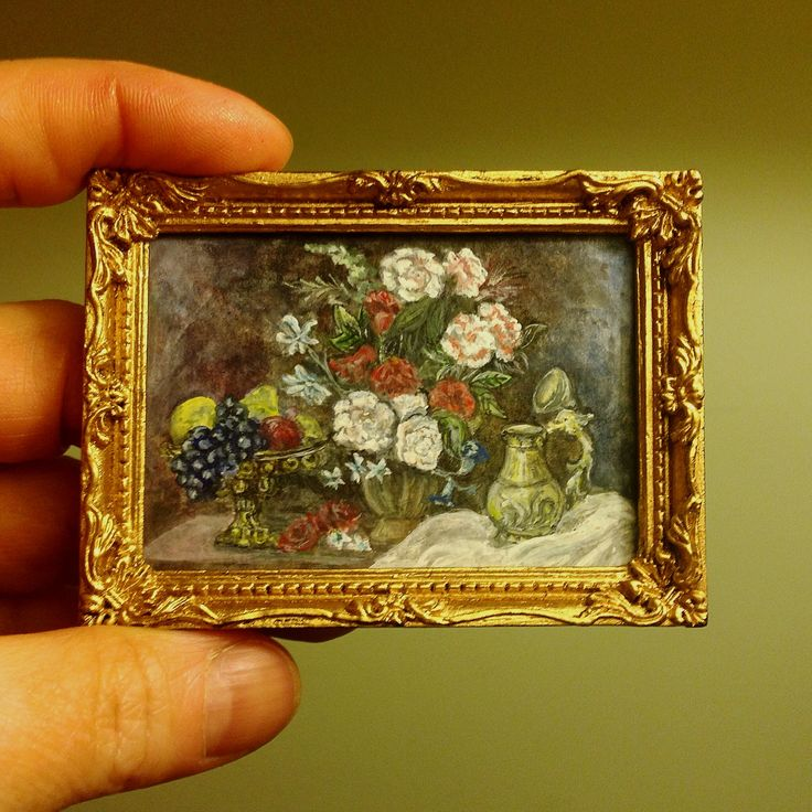 Dollhouse collectable miniature watercolor painting https://www.etsy.com/ru/your/shops/MiniArtHouse/tools/listings?ref=seller_platform_hdr
