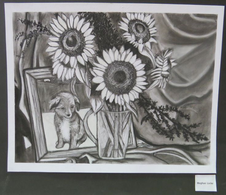 An example of the AP artwork that often graces the walls of Pacific Christian School.