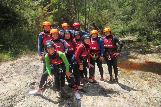 Kloofing in Tsitsikamma, Garden Route with Africanyon Adventures.  Feel the rush of a canyoning adventure with AfriCanyon. Abseil in and around waterfalls, navigate natural water slides; enjoy the thrill of optional jumps, our unique rock pool zip-line and lots of fun in between. The perfect outdoor adventure. #dirtyboots #kloofing #tsitsikamma #meetsouthafrica