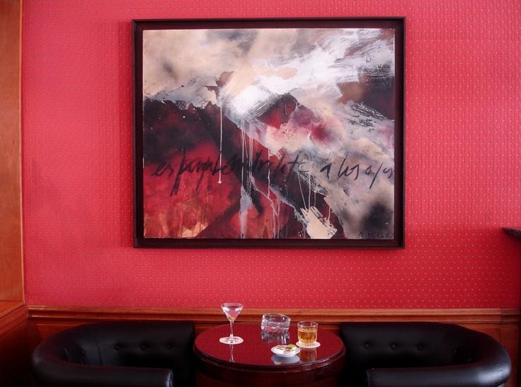 Obra de Margarita Garcés en nuestro Bar Don Joaquín. #HsmChile #VinadelMar #Chile #Arte #Pintura #Turismo